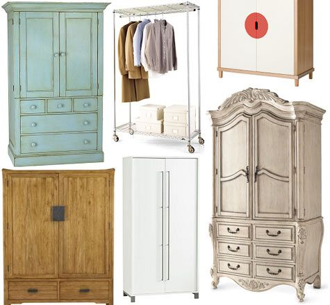 Exceptionnel [image Above, Clockwise From Top Left: Charlotte Armoire $1099, Garment  Rack $140