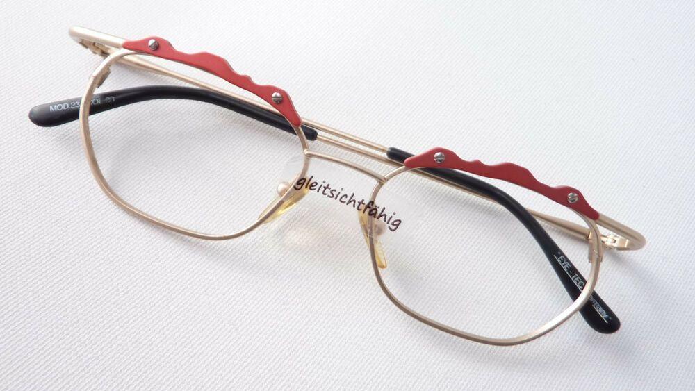 Beauty & Gesundheit Vintagebrille Brille Fassung Damen Große Gläser Kunststoff Hell 70er Grösse M
