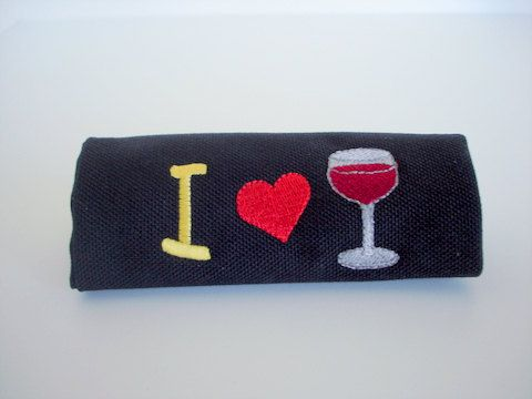I love wine luggage handle wrap / cover.  Great gift for wine lovers!