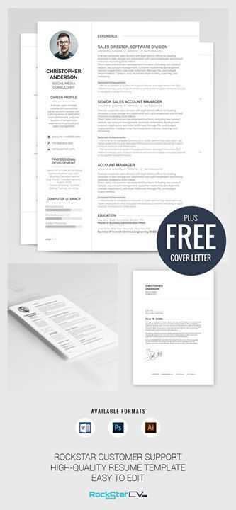 Resume Template Synnove   rockstarcv/product/resume