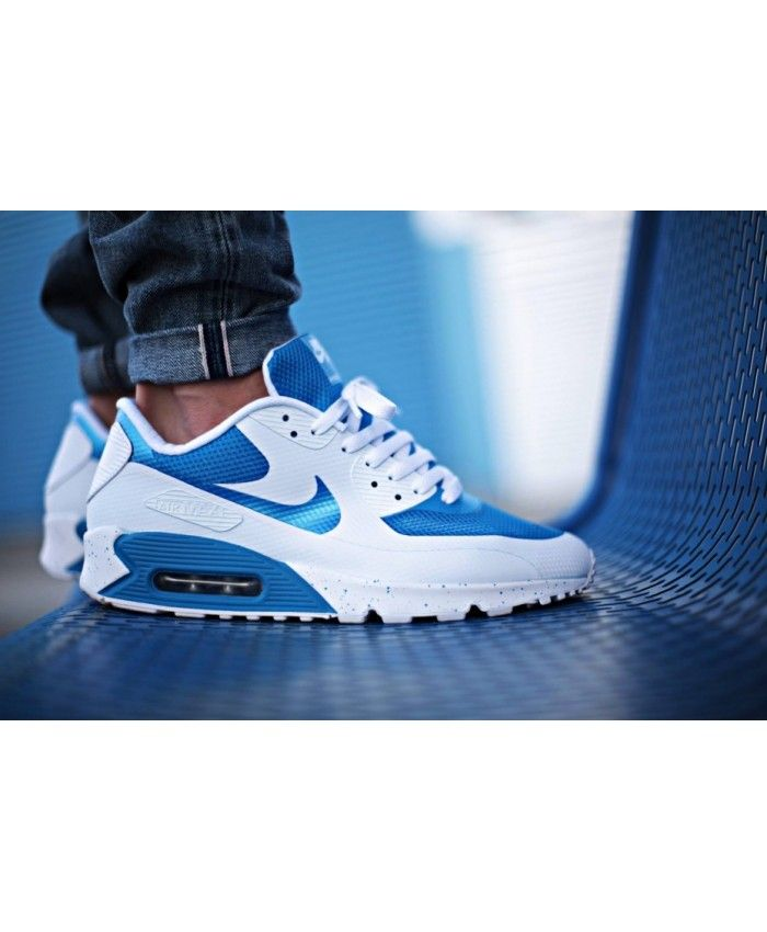 various colors 5864d 89718 Nike Air Max 90 Hyperfuse Caroline Du Nord Bleu Blanche