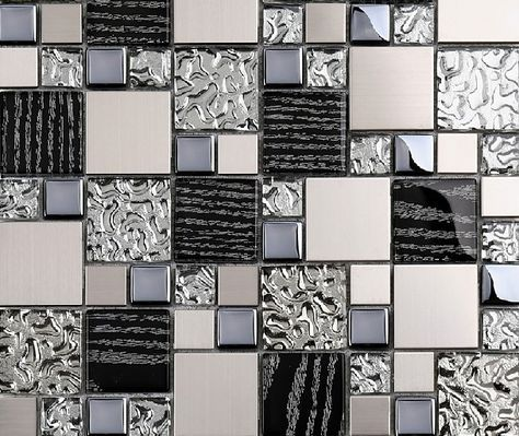 metallic wall tiles kitchen silver metal mosaic stainless steel tile kitchen 7479