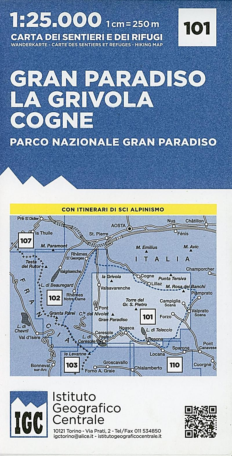 Igc Wanderkarte Gran Paradiso La Grivola Cogne Karte Im