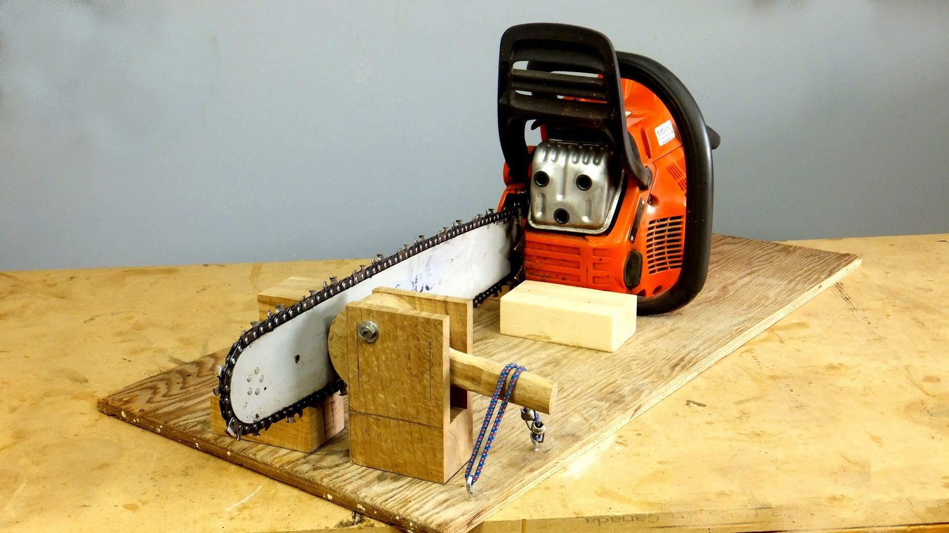 Build a chainsaw sharpening jig a woodworkweb video