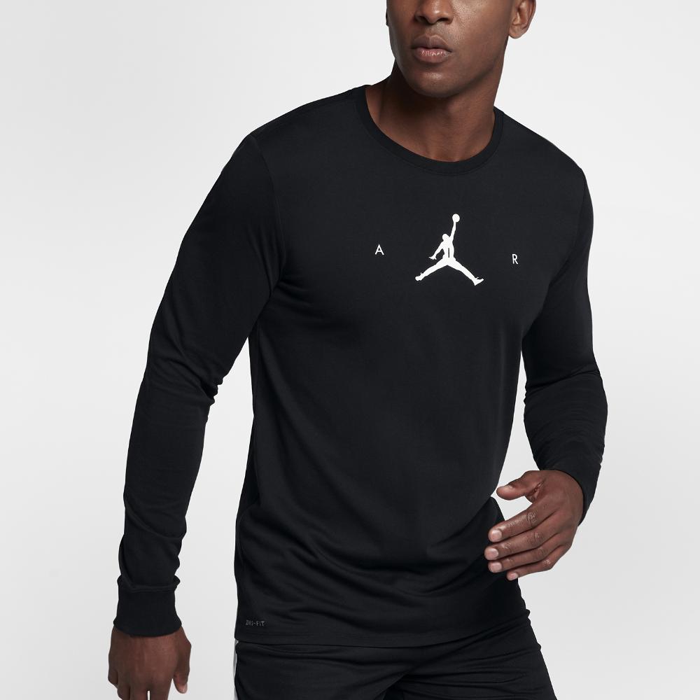 NIKE Big Boys Jordan Jumpman Dri-Fit Long-Sleeve T-Shirt