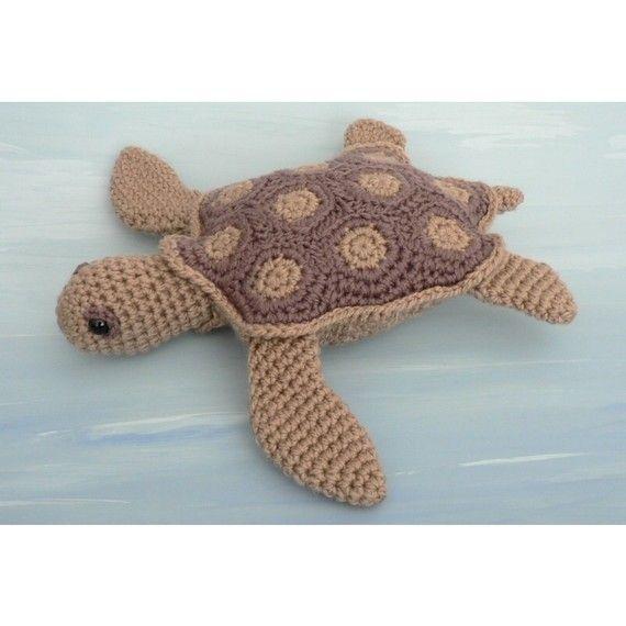 PDF AquaAmi Sea Turtle Amigurumi CROCHET PATTERN Dolls And Toys Interesting Free Sea Turtle Crochet Pattern