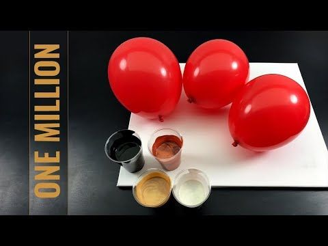 One Million Dollar - Fluid Painting - BALLON DIPPING DELUXE - with nacre, cooper and fluid gold - YouTube #milliondollardip