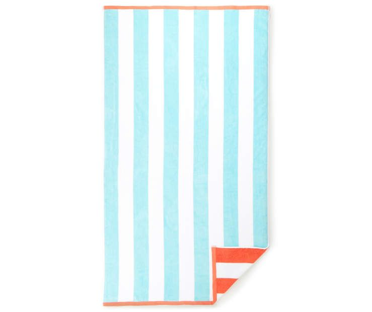 Better Cabana Aqua Orange Oversized Beach Towel 40 X 72 At