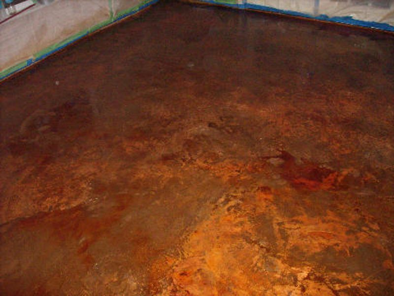 Copper concrete stain Working Spaces