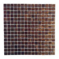 """Bon Appetit 0.75"""" x 0.75"""" Glass Mosaic Tile in Antique Brass"""