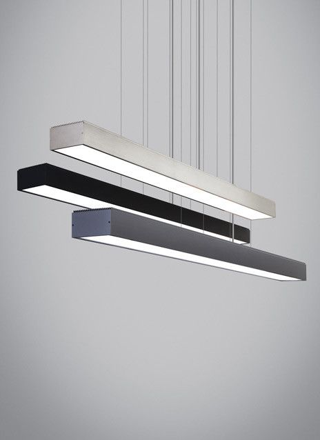 Dimmable with low-voltage electronic dimmer, Tech Lighting Knox Linear Suspension. #TechLighting #LinearSuspension Available at loftmodern.com  http://www.loftmodern.com/products/tech-lighting-knox-linear-suspension