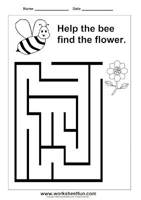 It's just an image of Astounding Preschool Maze Printable