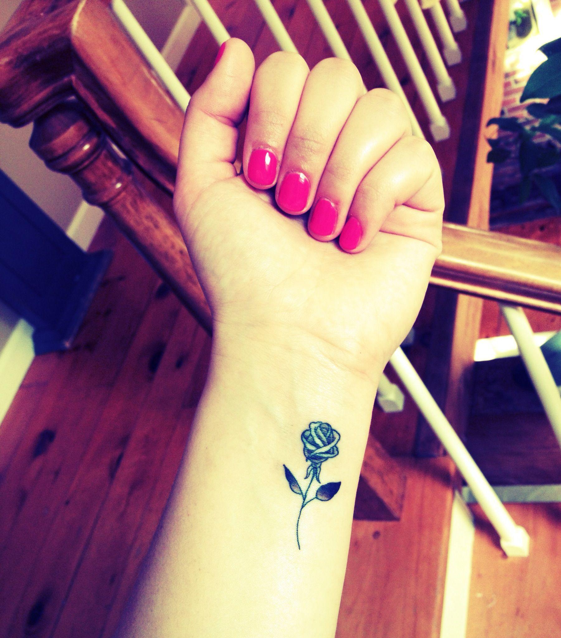 Rose Tattoo On Wrist: My Rose Tattoo! #rose #tattoo #wrist