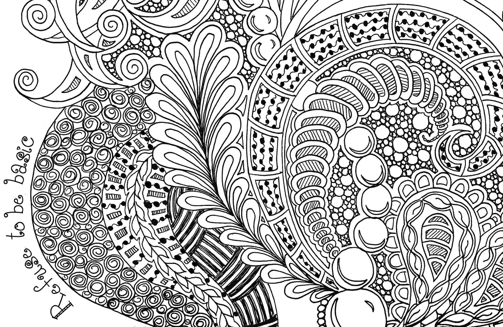 Basic Zentangle | Refuse to be Basic Zentangle Doodle Drawing by *KatAhrens on ...