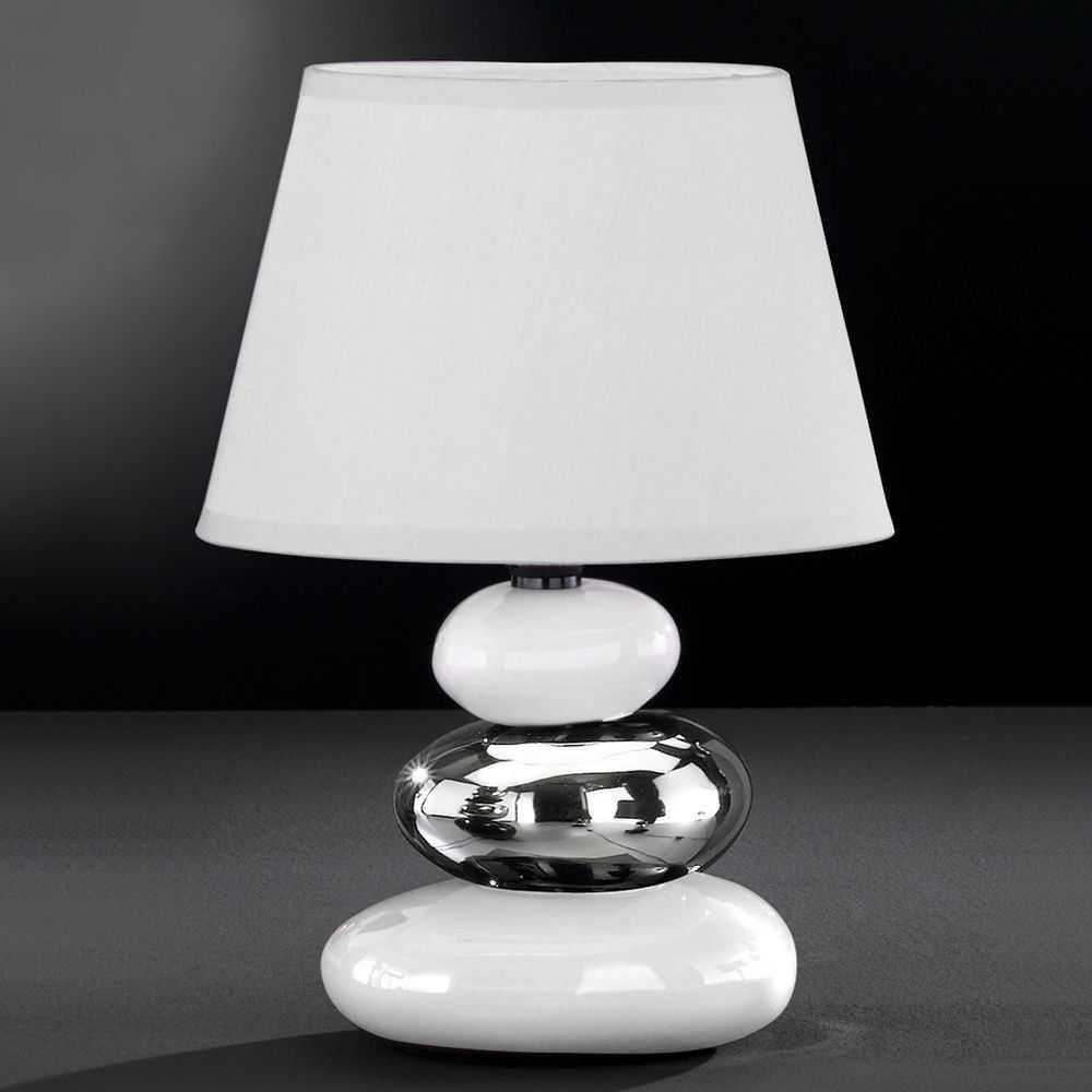 Tischleuchte in Weiß-Silber Jetzt bestellen unter: https://moebel.ladendirekt.de/lampen/tischleuchten/beistelltischlampen/?uid=8ea75b16-83b1-5f73-8862-492b7c1a137b&utm_source=pinterest&utm_medium=pin&utm_campaign=boards #lampen #tischleuchten #tischlampen #beistelltischlampen