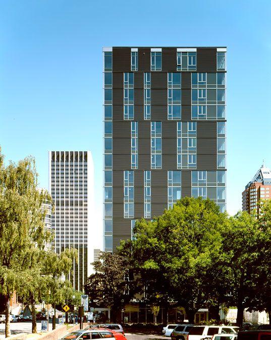 gbd hacker architects cyan apartments portland