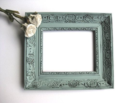 Vintage French Country Frame, Duck Egg Blue, Shabby and Chic, Paris ...