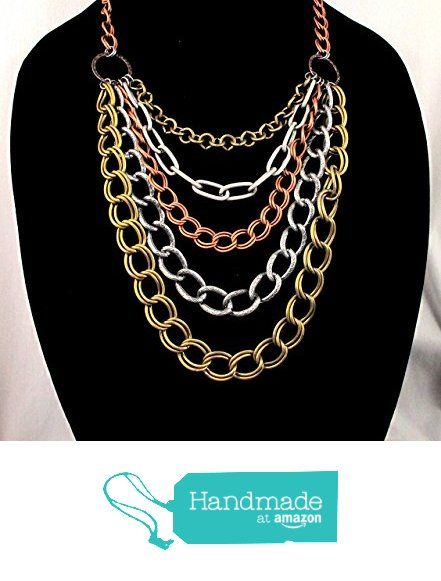 Bold Chain Necklace in Mixed Metals (10% OFF until 8/20/16) from By Brenda Elaine Jewelry https://www.amazon.com/dp/B018GTKHSG/ref=hnd_sw_r_pi_dp_wYCOxb73DTVGF #handmadeatamazon