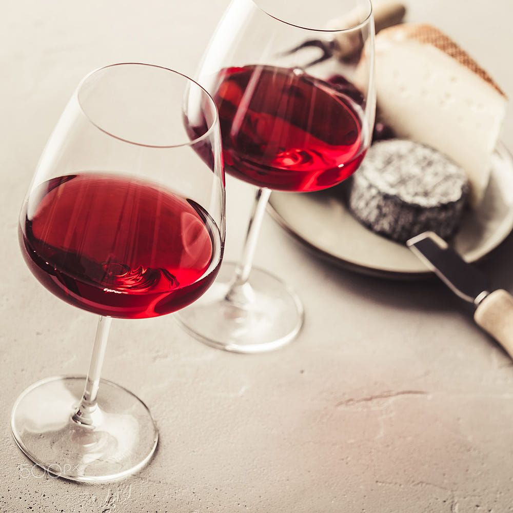 Red Wine And Cheese On Concrete Background Red Wine Wine Concrete Background