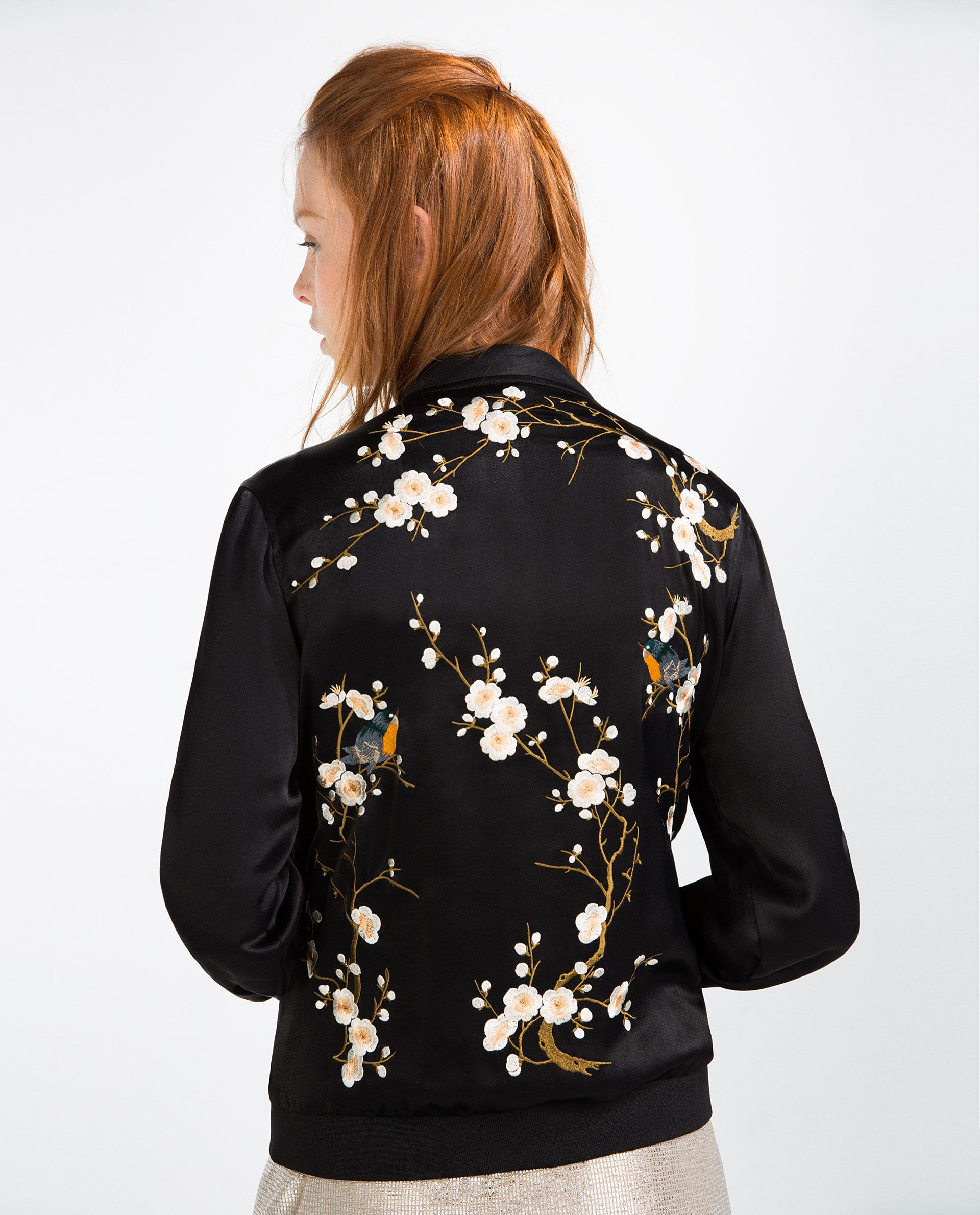 Zara Woman's Floral Embroidered Bomber Floral Embroidered Bomber Jacket  (sold out) Zara Jackets & Coats