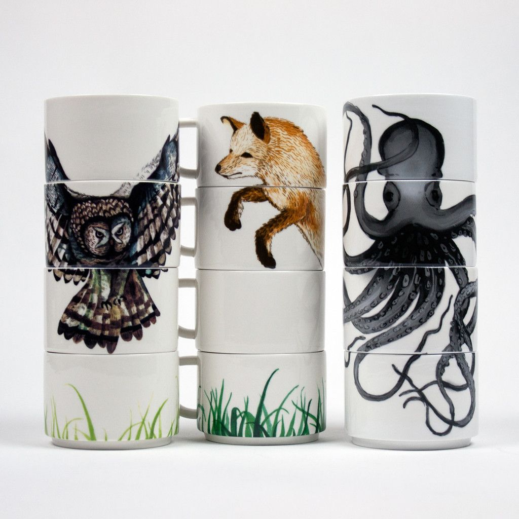 Forest Friends Stacking Mugs – The Colossal Shop