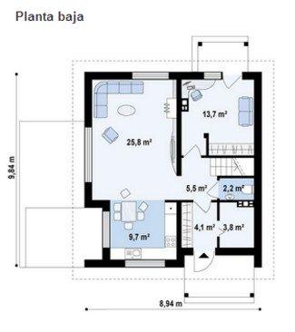 Modelos de casas de dos pisos sencillas planos de casas for Modelos de casas sencillas