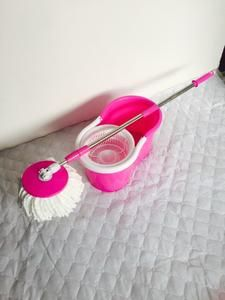 360 Spin Mop With Bucket Dual Heads Purple Blue Pink Green