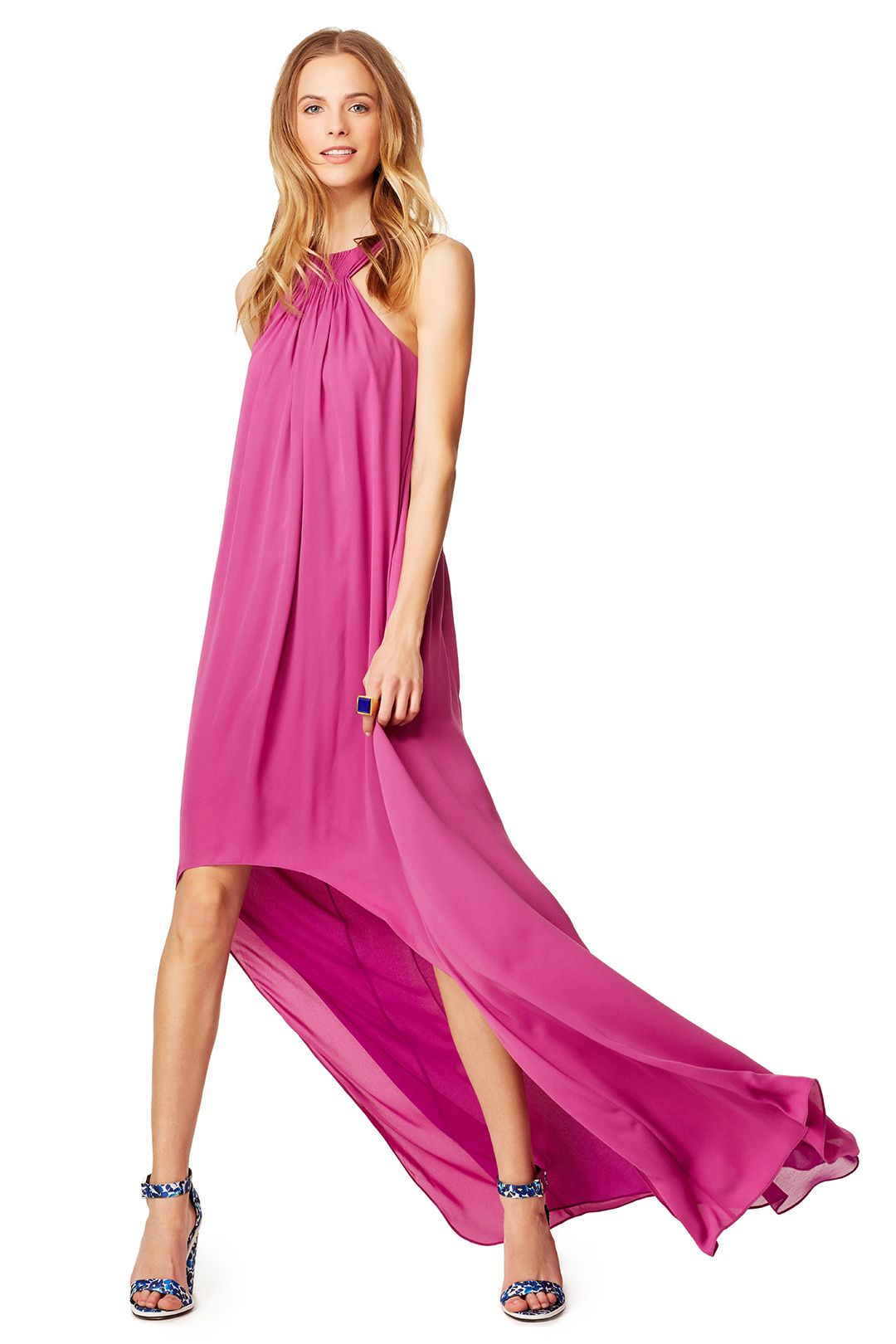 Maxi dresses to wear to a wedding   weddingready summer wedding guest styles  Halston heritage