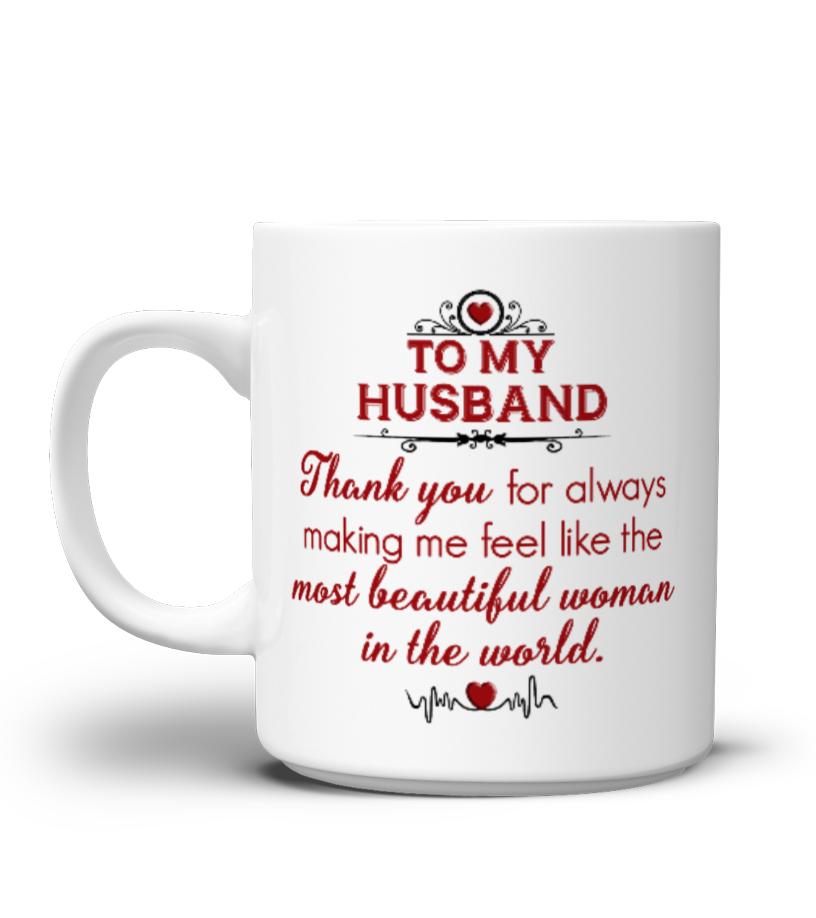 My Husband Gift Idea Shirt Image Music Guitar Sing Art Mugs