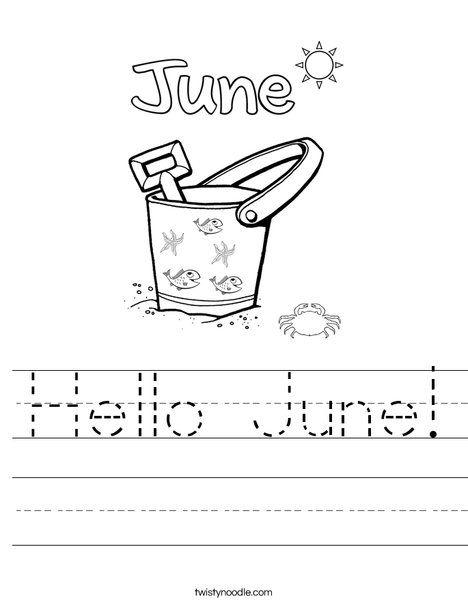 Hello June Worksheet Back To School Crafts For Kids Alphabet Worksheets Preschool Stem Activities Preschool