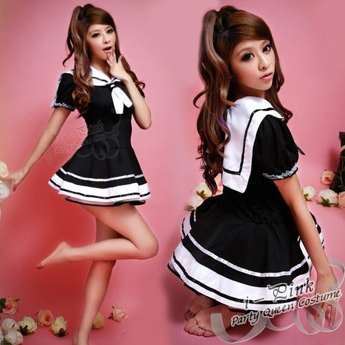 NEW SEXY Navy Blue Sailor Girl Ladies Halloween Party Costume Outfit Fancy Dress