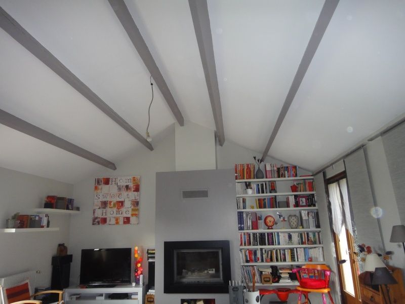 peinture poutres plafond cathédrale | Poutres apparentes ...
