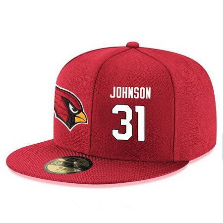 Arizona Cardinals #31 David Johnson Snapback Cap NFL Player Red with White Number Stitched Hat