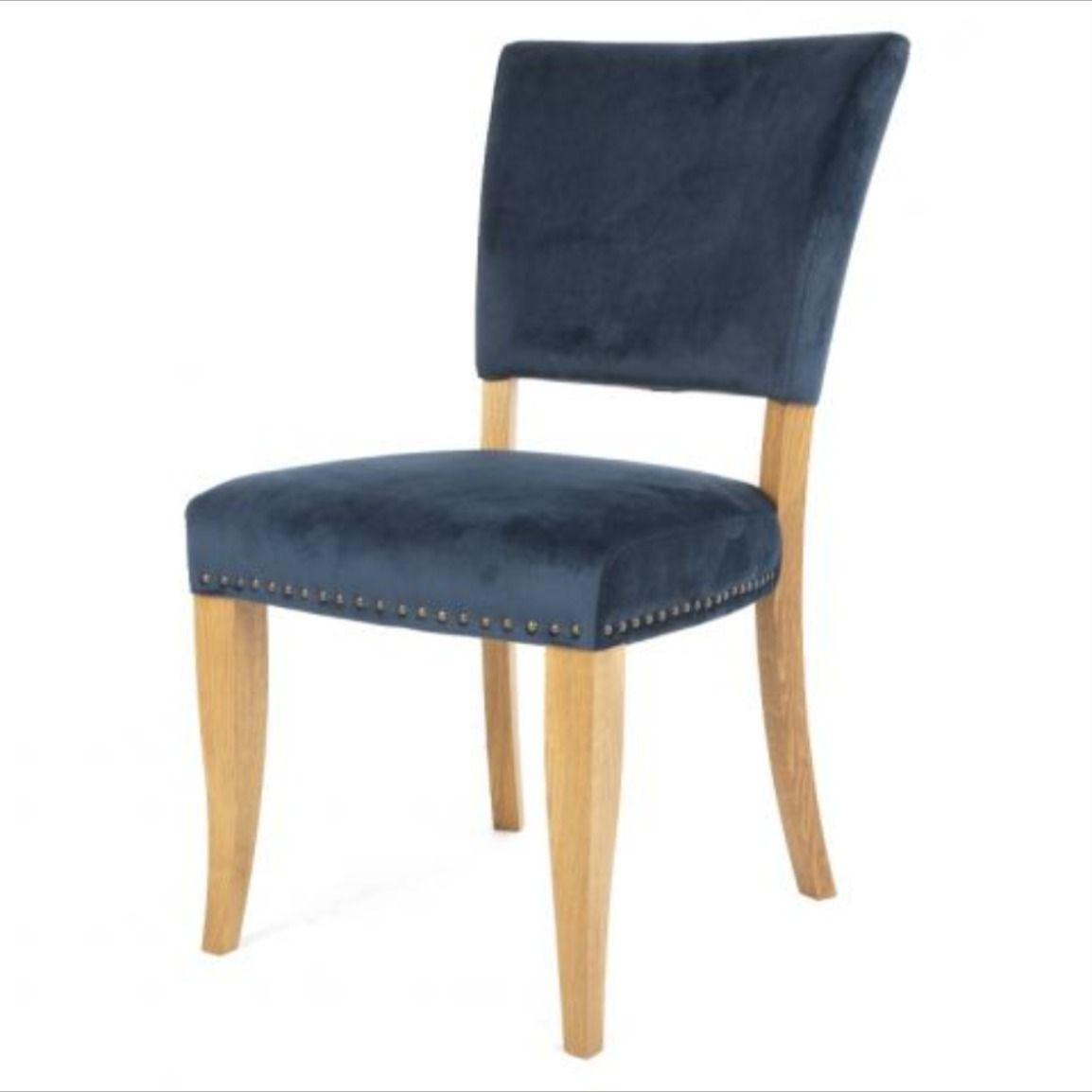 Indus Dark Blue Velvet Dining Chair Blue Velvet Dining Chairs