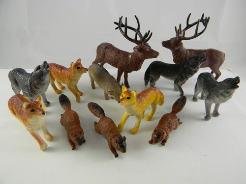 Animal Favour Miniature Woodland Assorted Set 6 Pack
