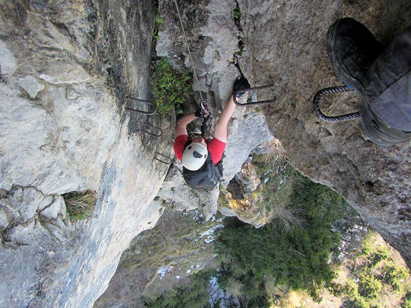 Klettersteig Via Kapf : Klettersteige via kessi kapf und Örfla downhillhoppers