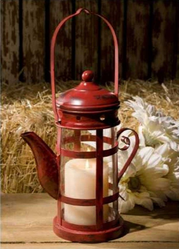 Red Teapot Lantern From Imax