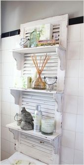 Photo of 13 things to recycle for decorating your bathroom #shabbychicdeco …