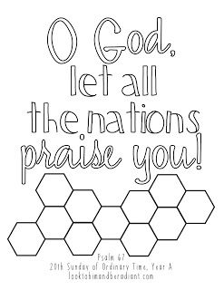 Look To Him And Be Radiant Sweeter Than Honey Psalm Coloring Pages August Psalm 67 Psalms Coloring Pages Catholic Teacher