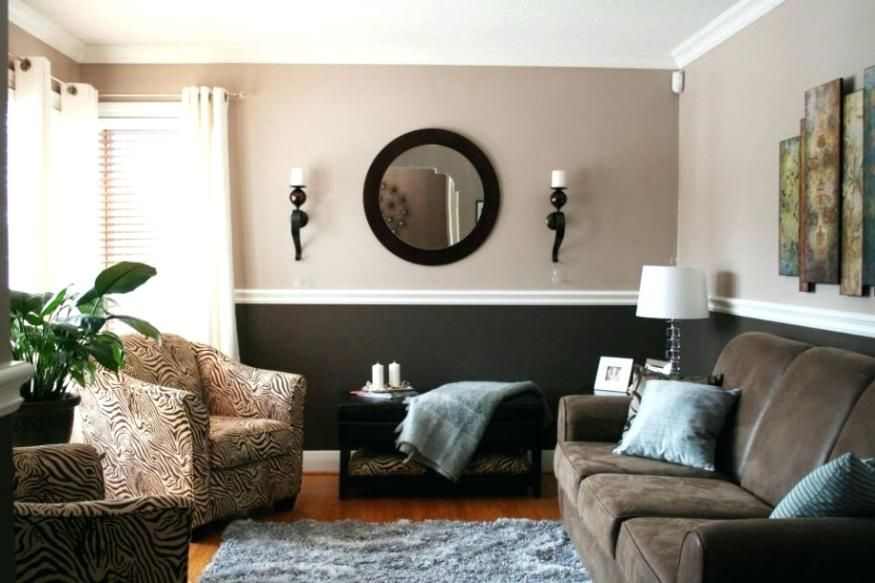 Two Tone Living Room Colors Earth Tone Paint Colors For Living