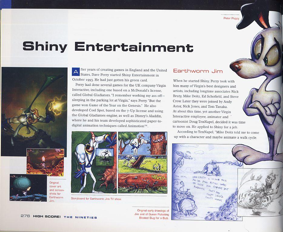 Shiny! Earthworm Jim! Fun stuff in High Score.