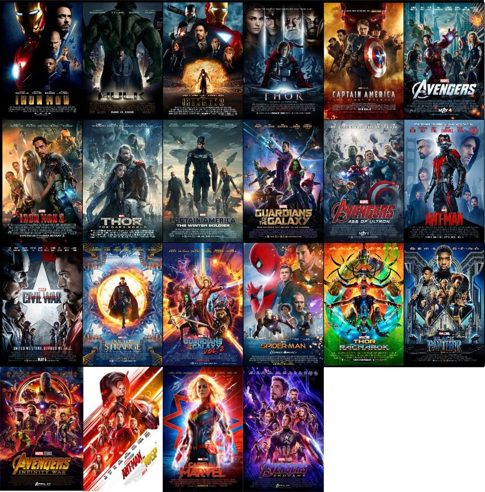 All Mcu Posters 2008 2019 Including Endgame Marvelstudios Marvel Movie Posters Avengers Movie Posters Marvel Posters