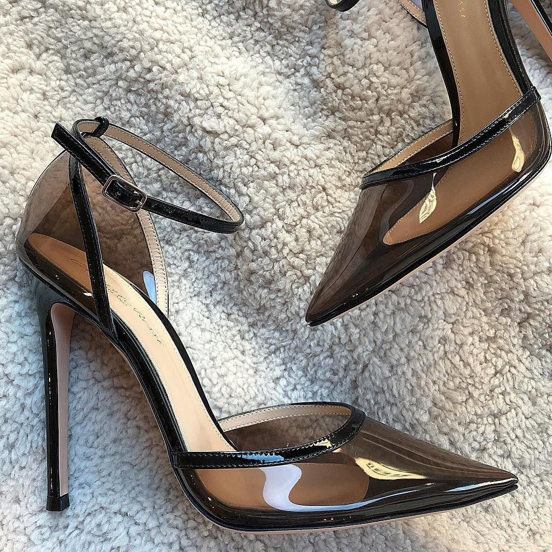 Richard Beckerman On Instagram Gianvito Rossi Sabin Pvc And Patent Leather Ankle Strap Pump 100mm Ankle Strap Pumps Strap Pumps Pumps