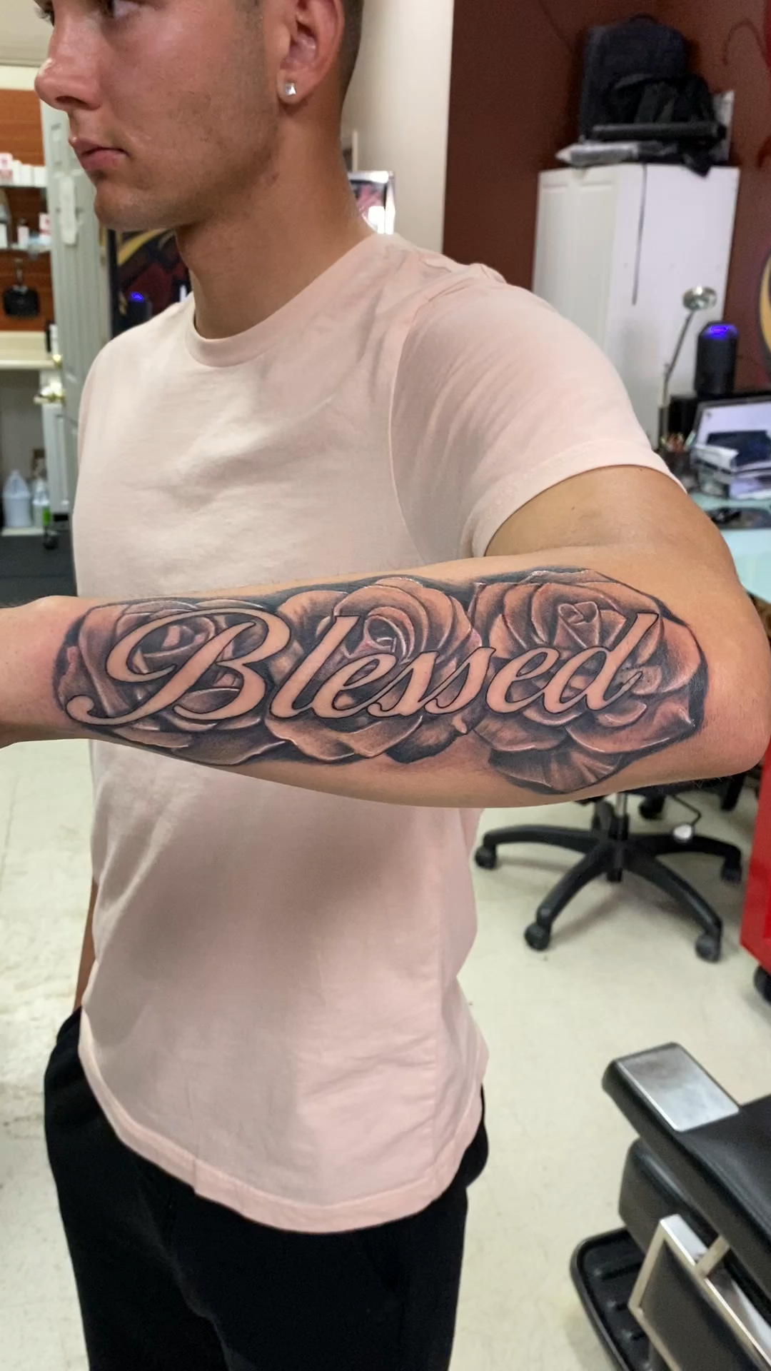 Blessed with Roses Tattoo