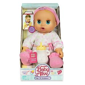 Baby Alive Newborn Sip N Snooze Doll Blonde At Hsn Com Baby