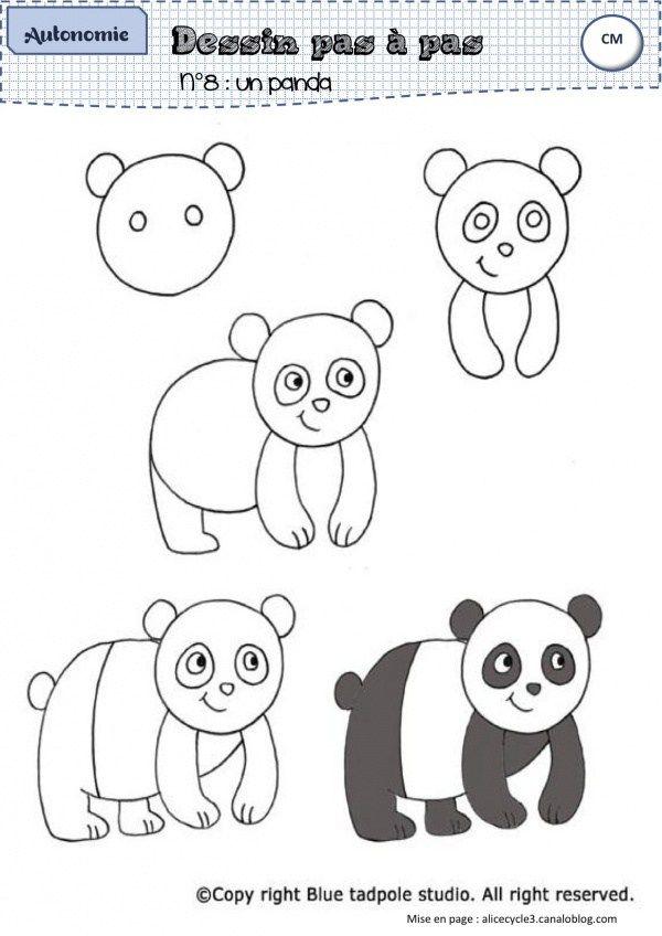 Pingl par lizzie boegel sur crafts en 2019 drawings panda drawing et easy drawings - Coloriage panda maternelle ...