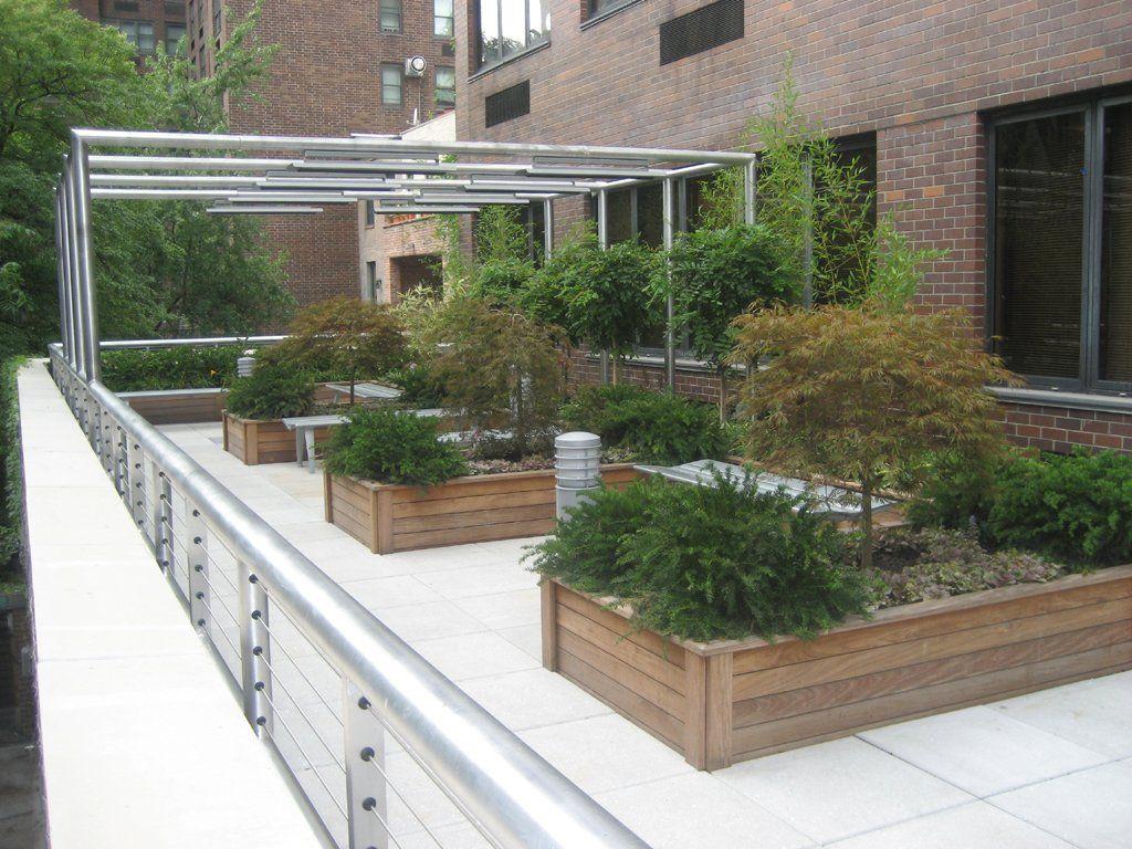 Brillian Terrace Garden Construction Details Architecture Roof Garden Design Rooftop Garden Courtyard Design