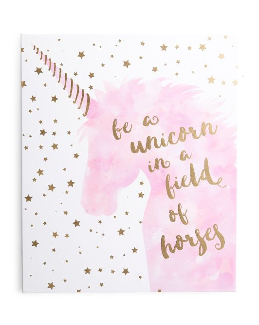 Kids 20x24 Unicorn Quote Wall Art Art For The Girls In