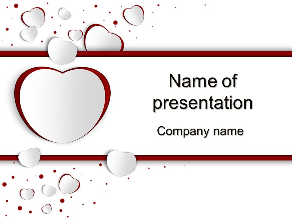 Love Day Powerpoint Template Templates Pinterest Template