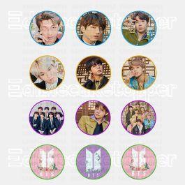 BTS Bangtan Boys Edible Cupcake Toppers (12 Images) Cake Image Icing Sugar Sheet Edible Cake Images #pictureplacemeant
